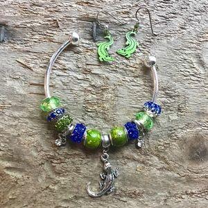 Jewelry - Florida gators bracelet and earrings, gators